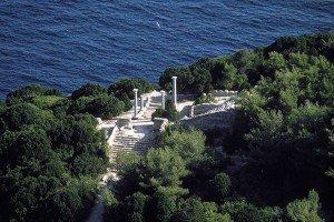 Isola di Giannutri, Villa Romana dal cielo - Foto di Luca Tamagnini