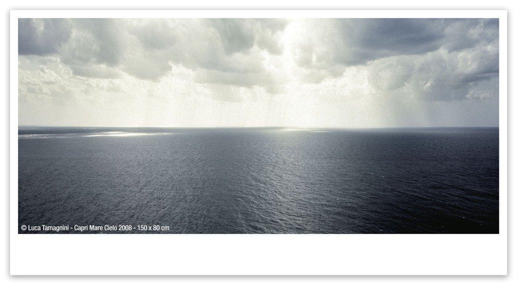 Fotografia fine art di Luca Tamagnini - Capri Mare Cielo 2008 - 150x80 cm