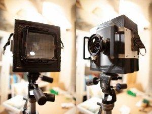 Banco ottico di Luca Tamagnini - Formato lastre 4x5 pollici - Ottica Schneider Kreuznach Super Angulon F8/120 mm