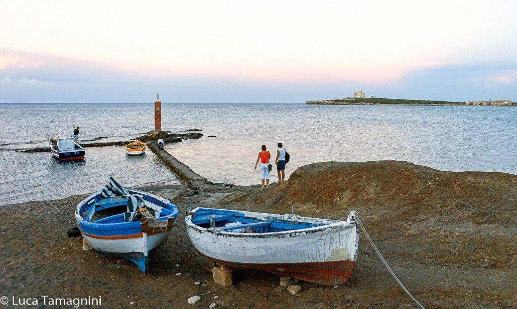 Portopalo di Capo Passero, 2007 - Il-piccolo molo di Scalo Mandrie - Foto di Luca Tamagnini.