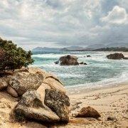 Il mare agitato sulla spiaggia di Punta Santa Giusta nei pressi di Costa Rei - Foto di Luca Tamagnini