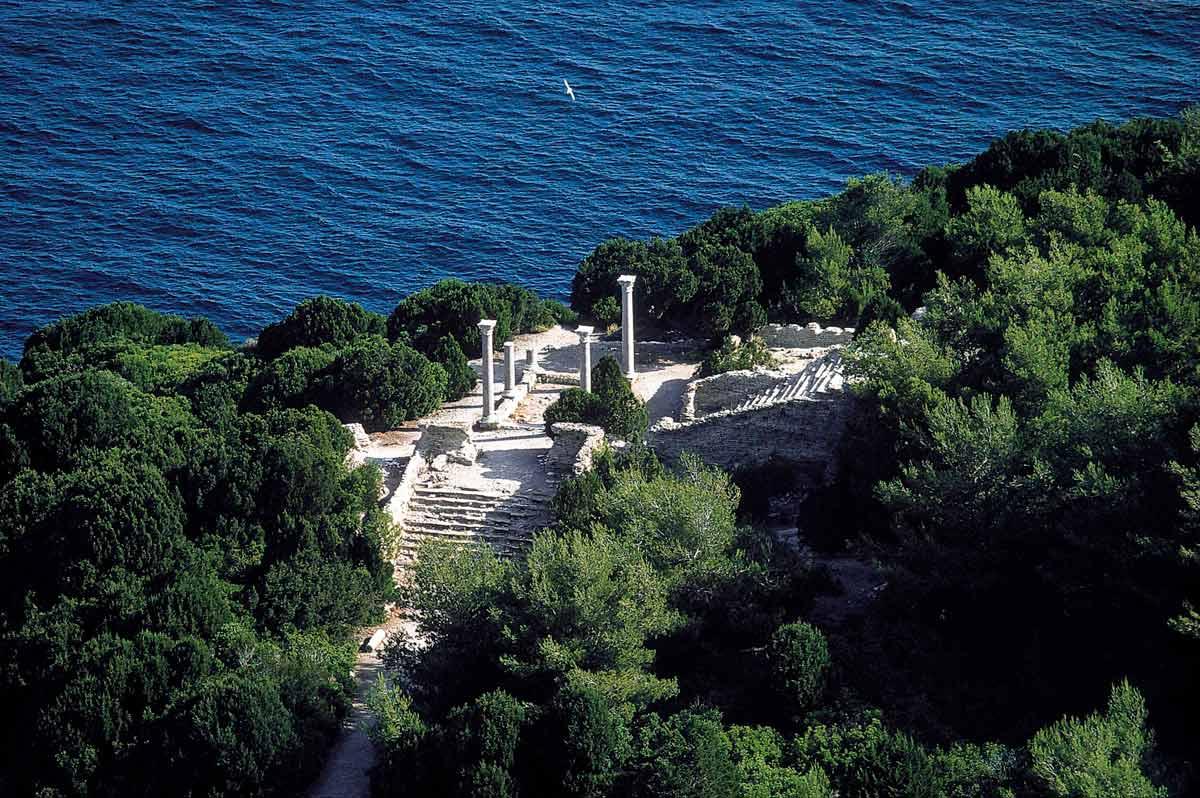 Villa Romana di Giannutri 1986 - Fotografia aerea di Luca Tamagnini