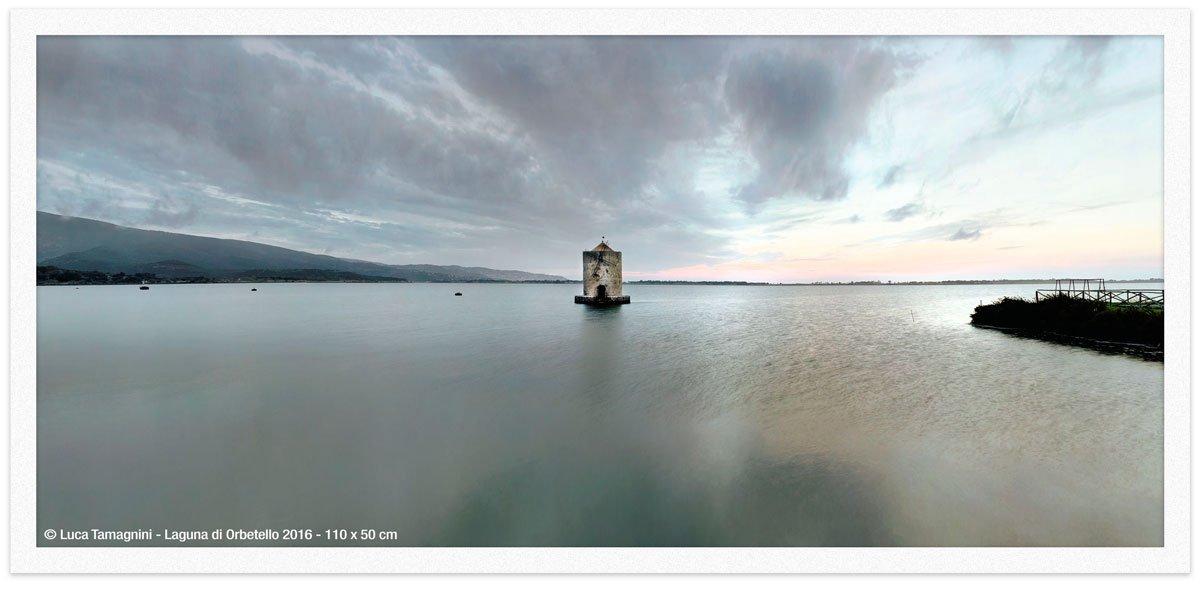 Laguna di Orbetello 2016 - 110x50cm - Fotografia fine art di Luca Tamagnini