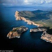 Sardegna, Capo Caccia Isola Piana dal cielo (foto aerea) / Luca Tamagnini Catalogo 2008-023