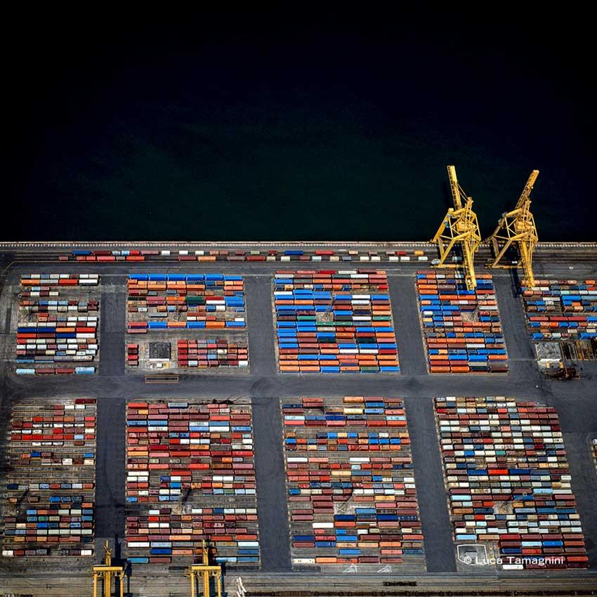 Trieste, Molo Settimo, Container, 1991 - Fotografia di Luca Tamagnini © 2018