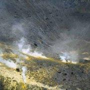 Isole Eolie Isola di Vulcano caldera dal cielo