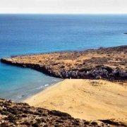Foto Mare Sicilia. Vendicari Spiaggia di Cala Mosche dal cielo