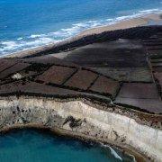 Eraclea Minoa Capo Bianco dal cielo. Foto aerea.