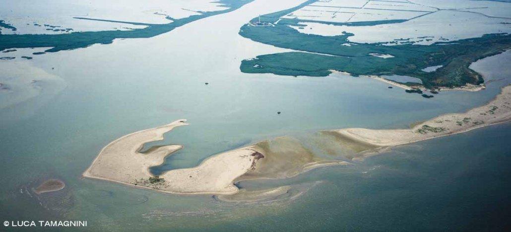 Delta del Po Faro di Pila visto dal cielo