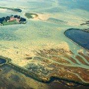 Laguna di Grado Isola di Barbana dal cielo