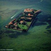 Laguna Veneta Isola di San Servolo dal cielo