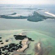 Delta del Po Bocche del Faro di Pila dall'elicottero (foto aerea)