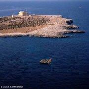 Isola di Portopalo di Capo Passero e fortezza il dal cielo