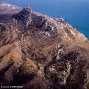 Palma di Montechiaro Castello di Montechiaro sulla costa dal cielo