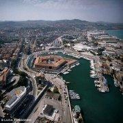 Ancona porto e Mole Vanvitelliana dal cielo