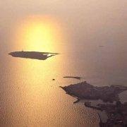 Gallipoli e Isola di Sant'Andrea dal cielo al tramonto