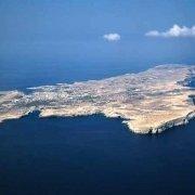 Isole Pelagie Isola di Lampedusa dal cielo