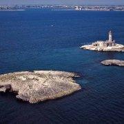 Porto di Brindisi Isole Pedagne dal cielo