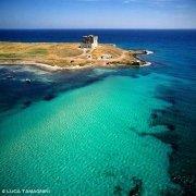 Salento adriatico la baia di Torre Guaceto dal cielo