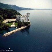 Trieste Castello di Miramare dal cielo