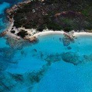 Isola di Budelli Spiaggia del Cavaliere dal cielo / Luca Tamagnini Catalogo 1992-006