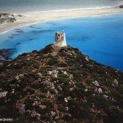Sardegna, Villasimius Torre di Porto Giunco dal cielo (foto aerea)