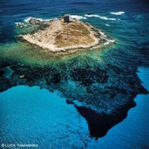 Stintino Isola della Pelosa dal cielo (foto aerea) (Foto Mare Sardegna / Catalogo Luca Tamagnini)