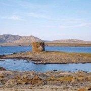 Sardegna, Stintino Isola La Pelosa la torre saracena sullo sfondo il mare e l'Isola dell'Asinara / Luca Tamagnini Catalogo 1992-049