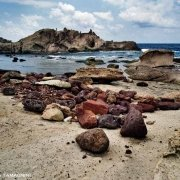 Sardegna, Rocce di tufo sul mare nei pressi della costa di Torre Argentina (Capo Marargiu) / Luca Tamagnini Catalogo 1992-055
