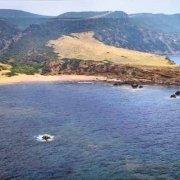 Sardegna, Torre Columbargia e la spiaggia dal cielo (foto aerea) / Luca Tamagnini Catalogo 1992-058