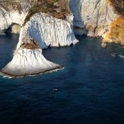 Ponza Capo, Bianco dal cielo visto dal cielo (foto aerea). Catalogo Foto Ponza.