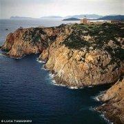 Sardegna, Capo Spartivento con il faro dal cielo (foto aerea) / Luca Tamagnini Catalogo 1993-026