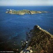 Sardegna, Villasimius, Capo Carbonara e l'Isola dei Cavoli dal cielo (foto aerea)