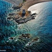 Sardegna, Torre Barì dal cielo (foto aerea)
