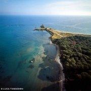 Torre Astura dal cielo (foto aerea)