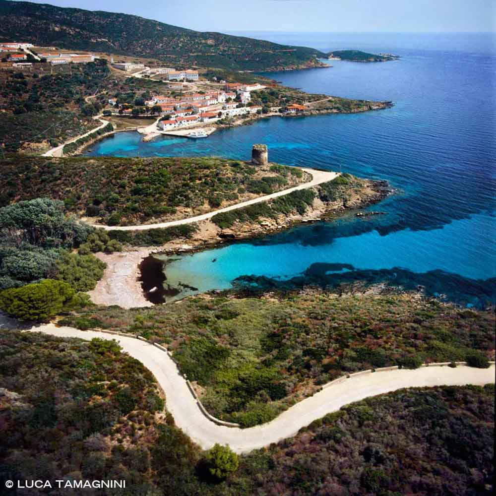 Isola dell'Asinara, Cala d'Oliva dal cielo (foto aerea) / Luca Tamagnini Catalogo 2002 011
