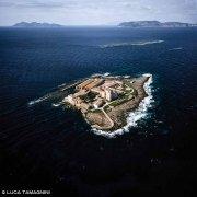 Foto Mare Sicilia. Isole Egadi, Isola Formica dal cielo