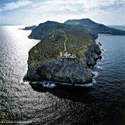 Isole Egadi Isola di Levanzo Capo Grosso dal cielo