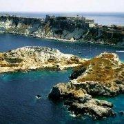Isole Tremiti isolotto di Cretaccio e Isola di San Nicola dal cielo