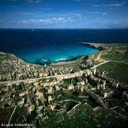 Foto Mare Sicilia. Isola Favignana Cave di Cala Rossa dal cielo