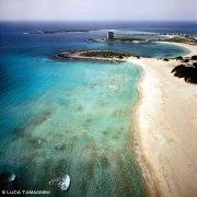 Salento Ionico Porto Cesareo Spiaggia delle Dune e Torre Chianca dal cielo