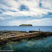 Isola di Ventotene Saline Antiche e Santo Stefano sullo sfondo