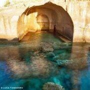 Ventotene, Peschiere Romane scavate nella roccia (tufo) per allevare il pesce all'epoca degli antichi romani