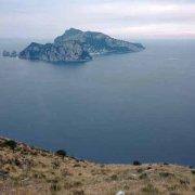 Isola di Capri da Monte San Costanzo
