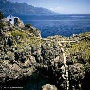 solotti Li Galli, gli scalini e la Cappella di Gallo Lungo dal cielo