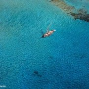 Isola di Budelli gozzo nella rada del Cavaliere / Luca Tamagnini Catalogo 2005-027