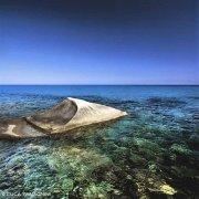 Sardegna, Villasimius Cava Usai pietra di granito sul mare
