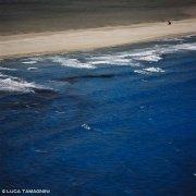 Sardegna, Villasimius Spiaggia Timi Ama con kite surf e il mare di Porto Giunco