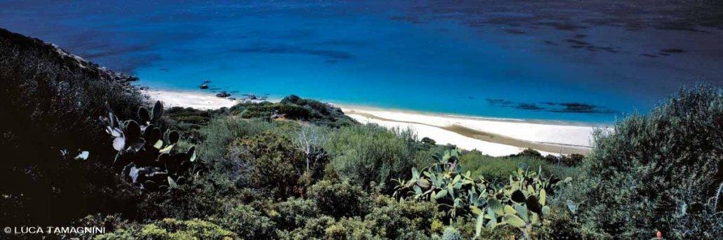 Villasimius Spiaggia di Campus sullo sfondo il mare