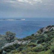 Sardegna, Isola di Serpentara vista dalla costa di Villasimius